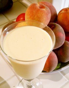 Almond Peach Smoothie Recipe: Dairy-free Sugar-free breakfast smoothie