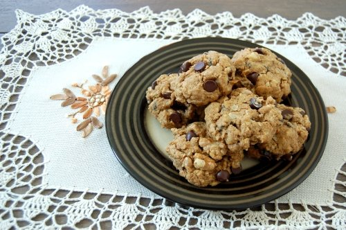 Link to Recipe for Healthy Oatmeal Raisin Chocolate Chip Cookies (Whole Grain & Vegan!)