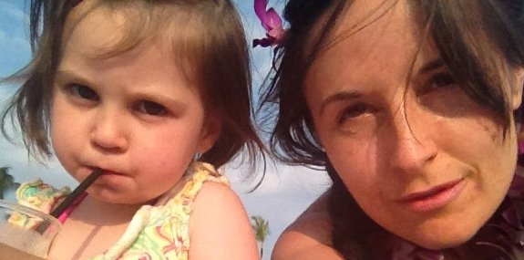 Living my best life: Author Magdalena Halford and daughter Eva