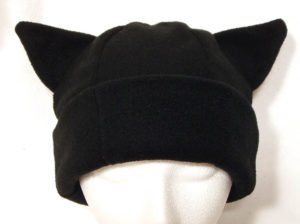 Black Kitty Cat Ear Winter Hat
