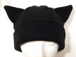 Black Kitty Cat Ear Winter Hat
